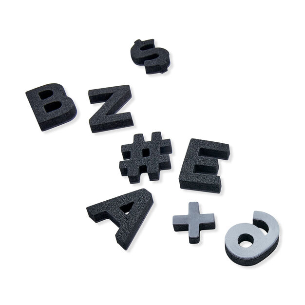 Soft Magnetic Letters in color Black