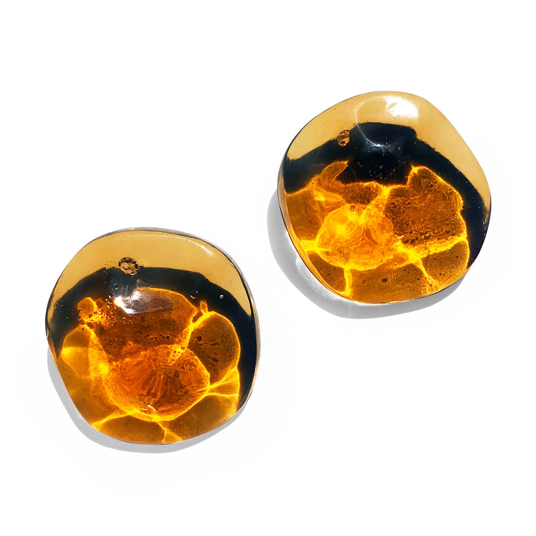 Reflection Earrings in color Amber
