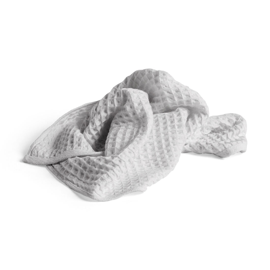 HAY Giant Waffle Guest Towel in color Gray