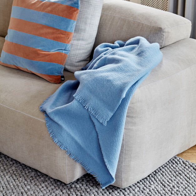 HAY Wool Blanket in color Blue