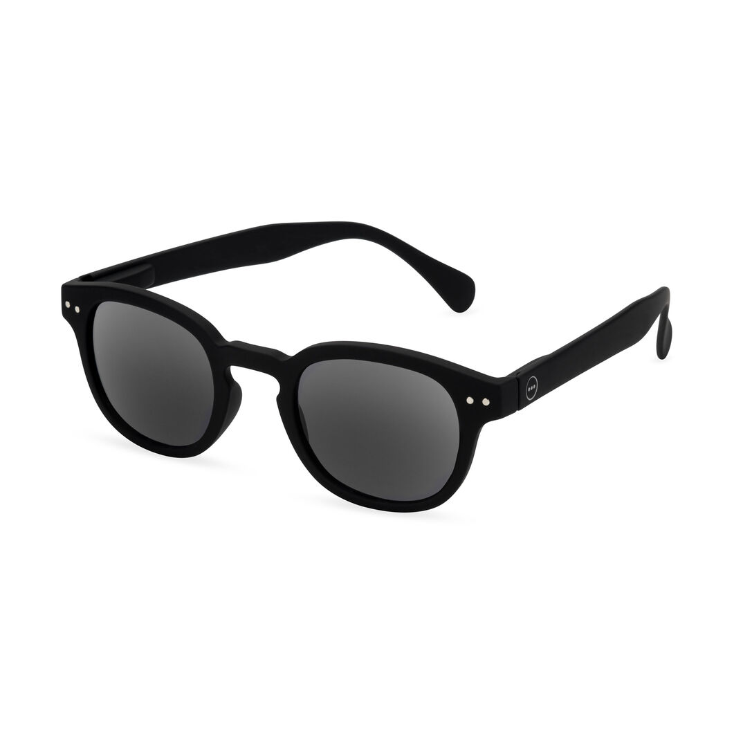 IZIPIZI Rounded-Edge Square Sunglasses #C in color Black