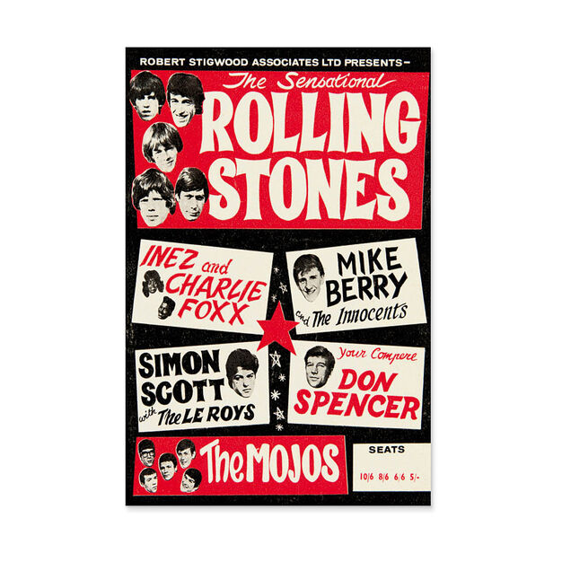 Rolling Stones Poster in color