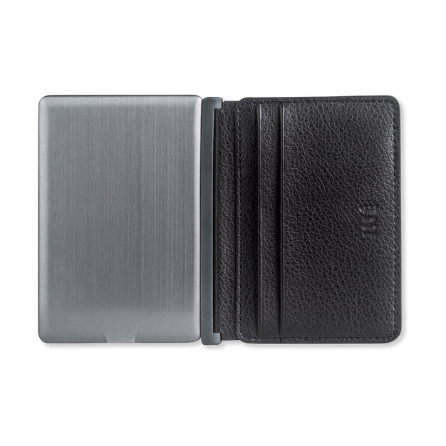 Iné Recycled Leather Wallet & Charger in color