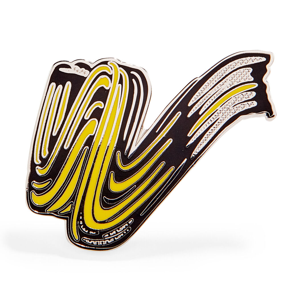 Roy Lichtenstein: Brushstroke Enamel Pin in color