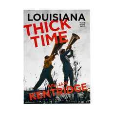 William Kentridge: Thick Time Poster in color