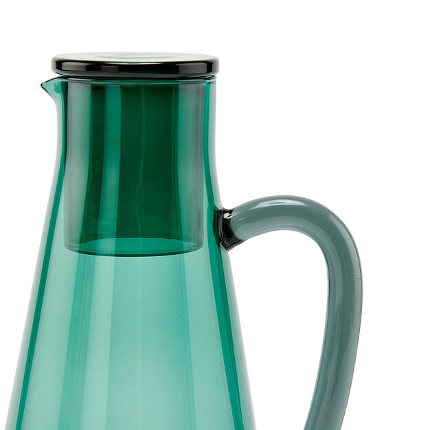 Two-Tone Glass Carafe in color Green