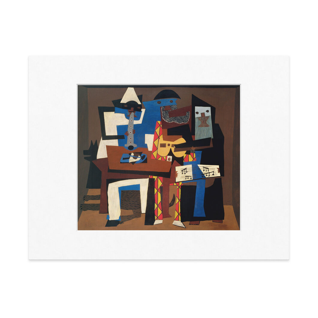 Picasso: Three Musicians Matted Print in color