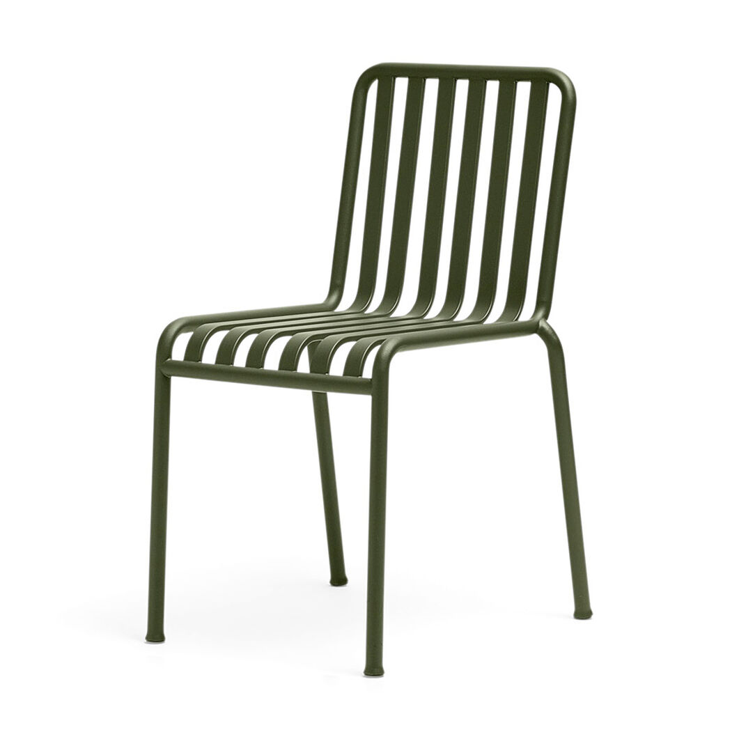 HAY Palissade Outdoor Side Chair in color Olive