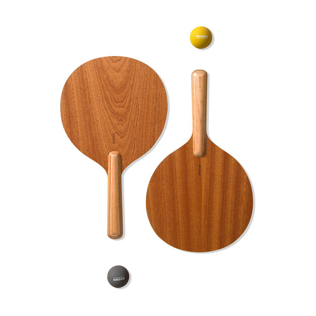 Paddle Ball Wood Set in color Wood