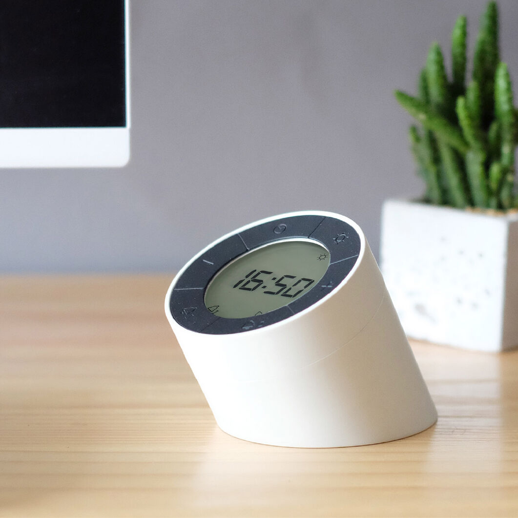 Edge Light Alarm Clock in color White