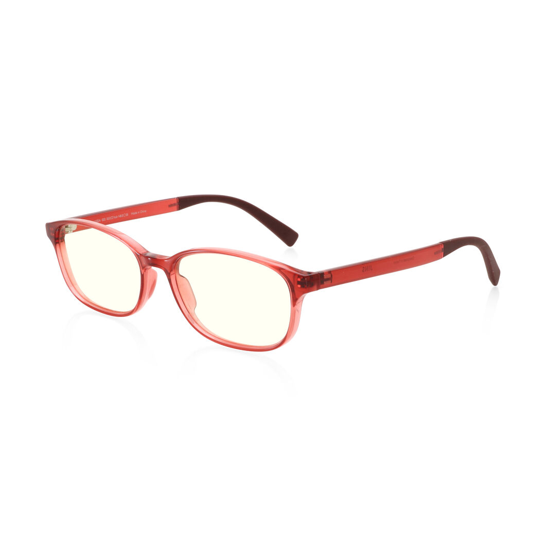 JINS Wellington Screen Glasses by Jasper Morrison in color Red