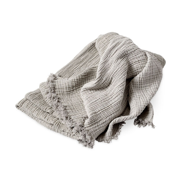 HAY Crinkle Throw in color Silver