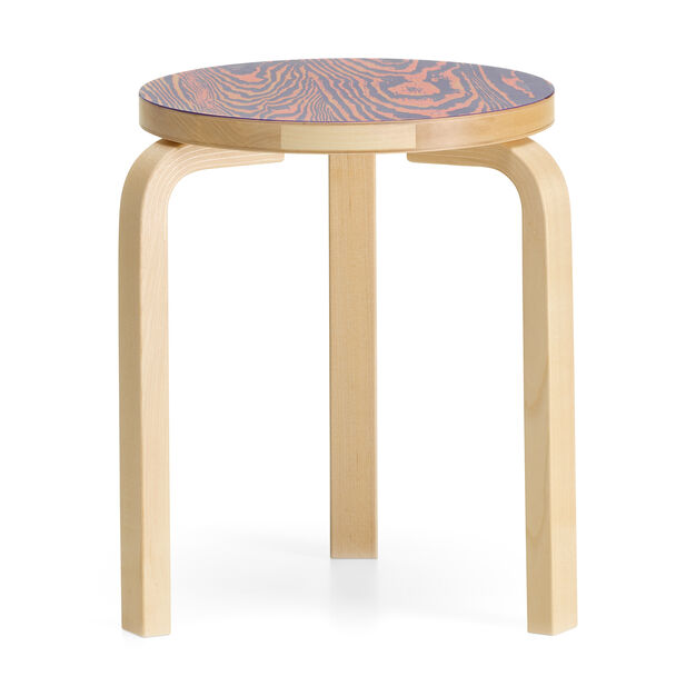 Artek Aalto ColoRing 60 Stacking Stool in color Pink/ Purple