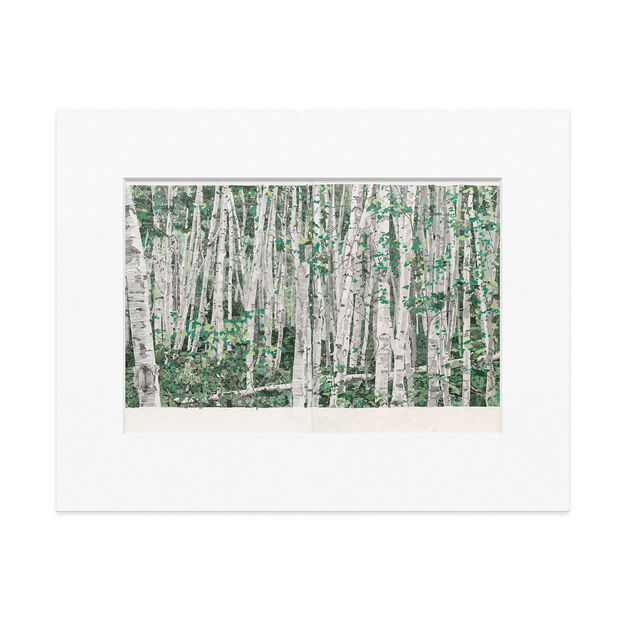 Odenbach: You Can't See The Forest For The Trees Matted Print in color