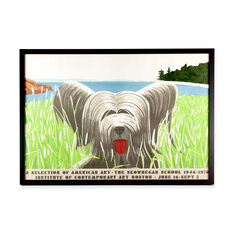 Alex Katz: Dog at Duck Trap Framed Poster in color