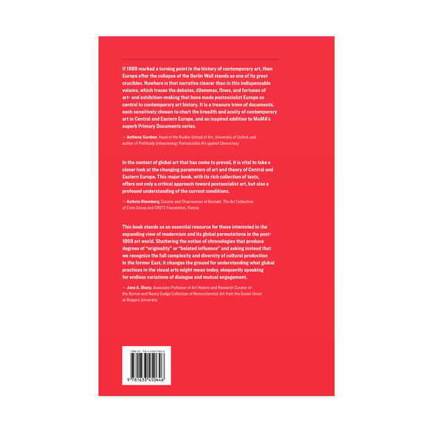 Art and Theory of Post-1989 Central and Eastern Europe: A Critical Anthology - Paperback in color