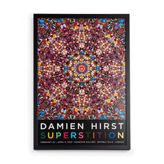 Damien Hirst: Superstition Framed Poster in color
