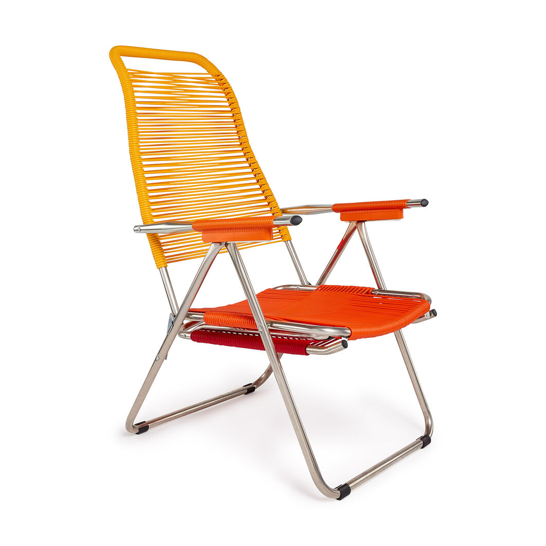 Spaghetti Outdoor Lounge Chair in color Yellow/ Orange/ Red