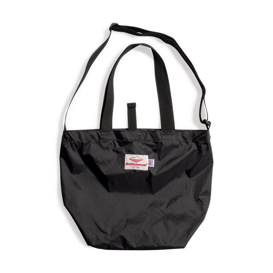 Battenwear Packable Tote Bag in color Black
