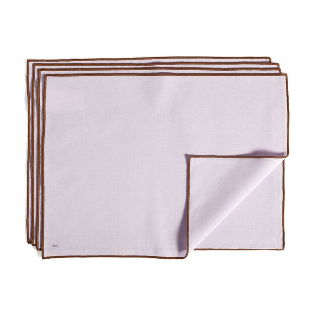 HAY Cotton Placemats - Set of 4 in color Lavender
