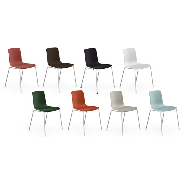 HAL Stackable Tube Chair in color Black