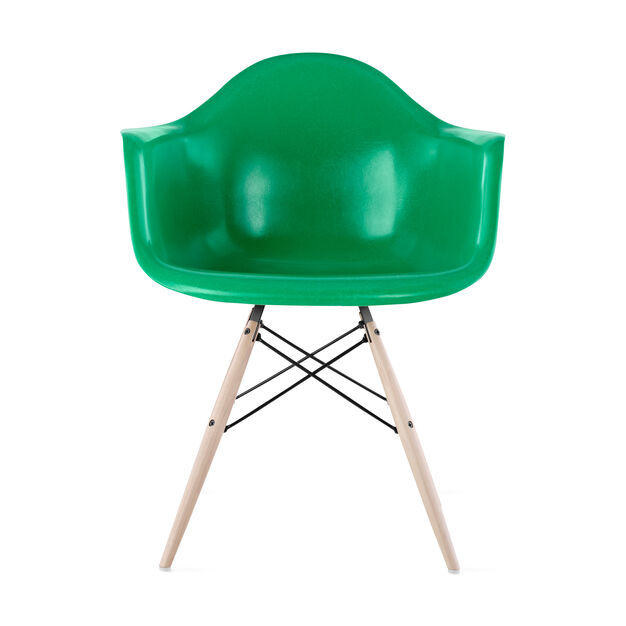 Eames DFAW Armchair  Green in color