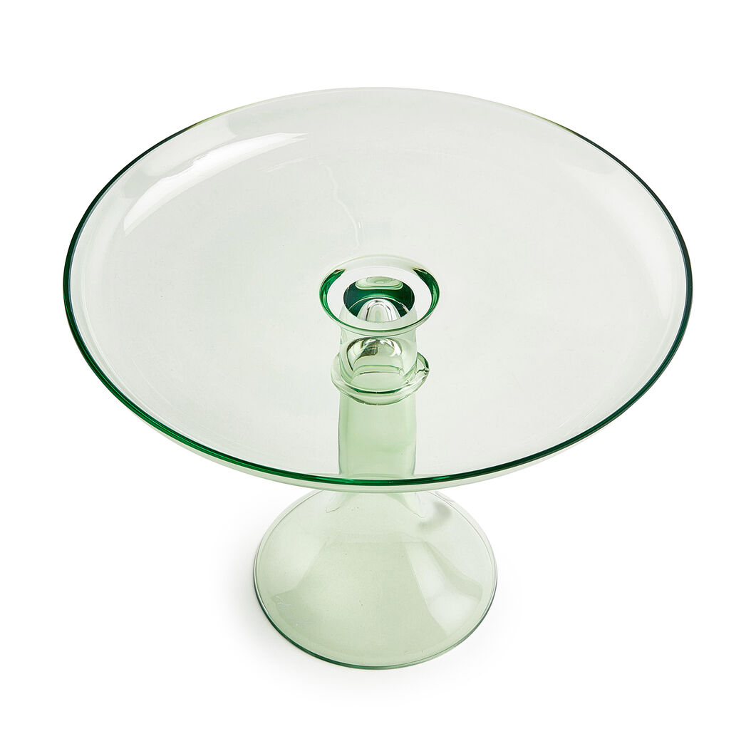 Estelle Glass Cake Stand in color Mint Green