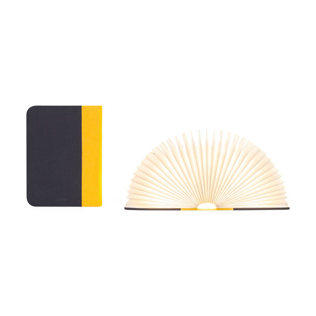 Lumio Book Lamp in color Yellow/ Gray