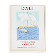 Salvador Dalí: Museum Opening (Ship) Framed Poster in color