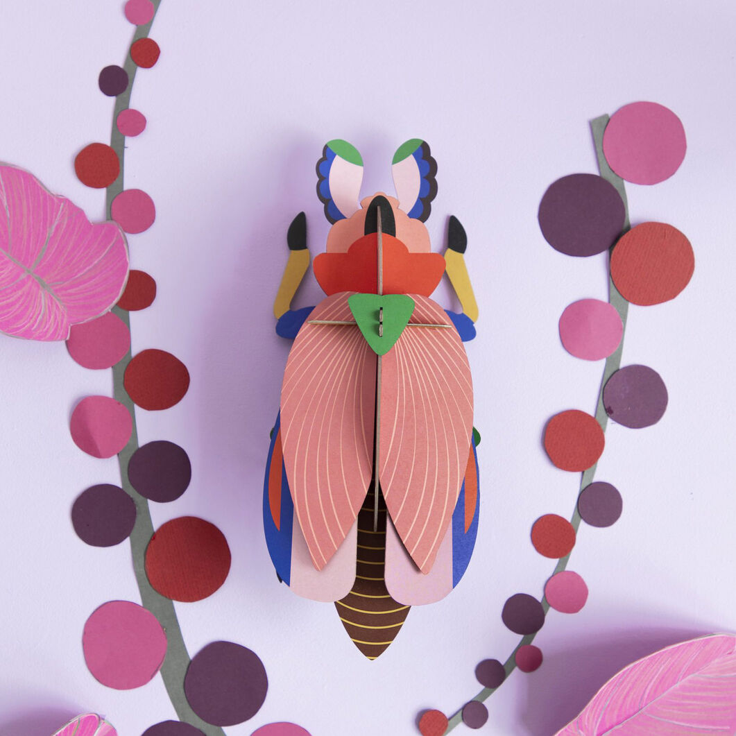 3D DIY Decorative Beetles in color Giant Lady