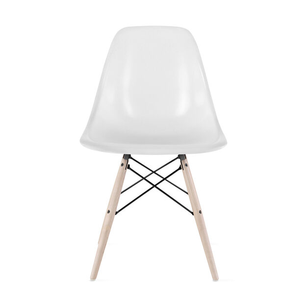 Eames®Molded Fiberglass Side Chair  Parchment in color