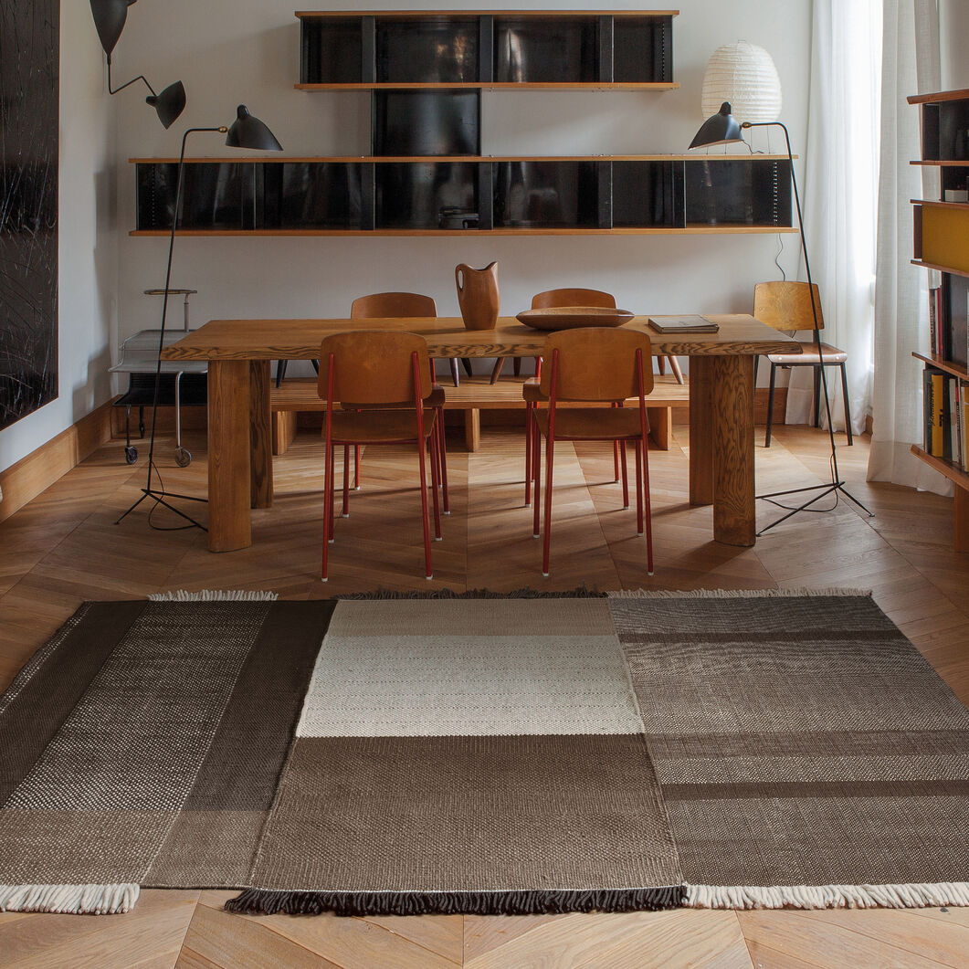 Nanimarquina Tres Rug in color Chocolate