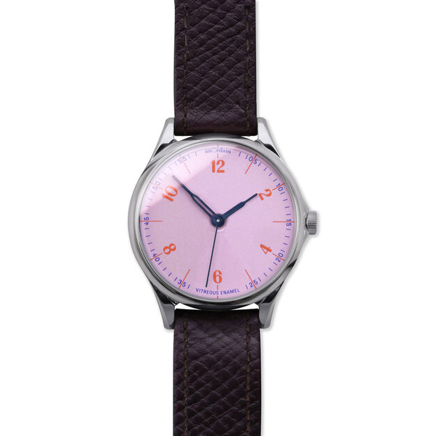 anOrdain Model 1 Watch - Pink Dial in color Russian Hatch