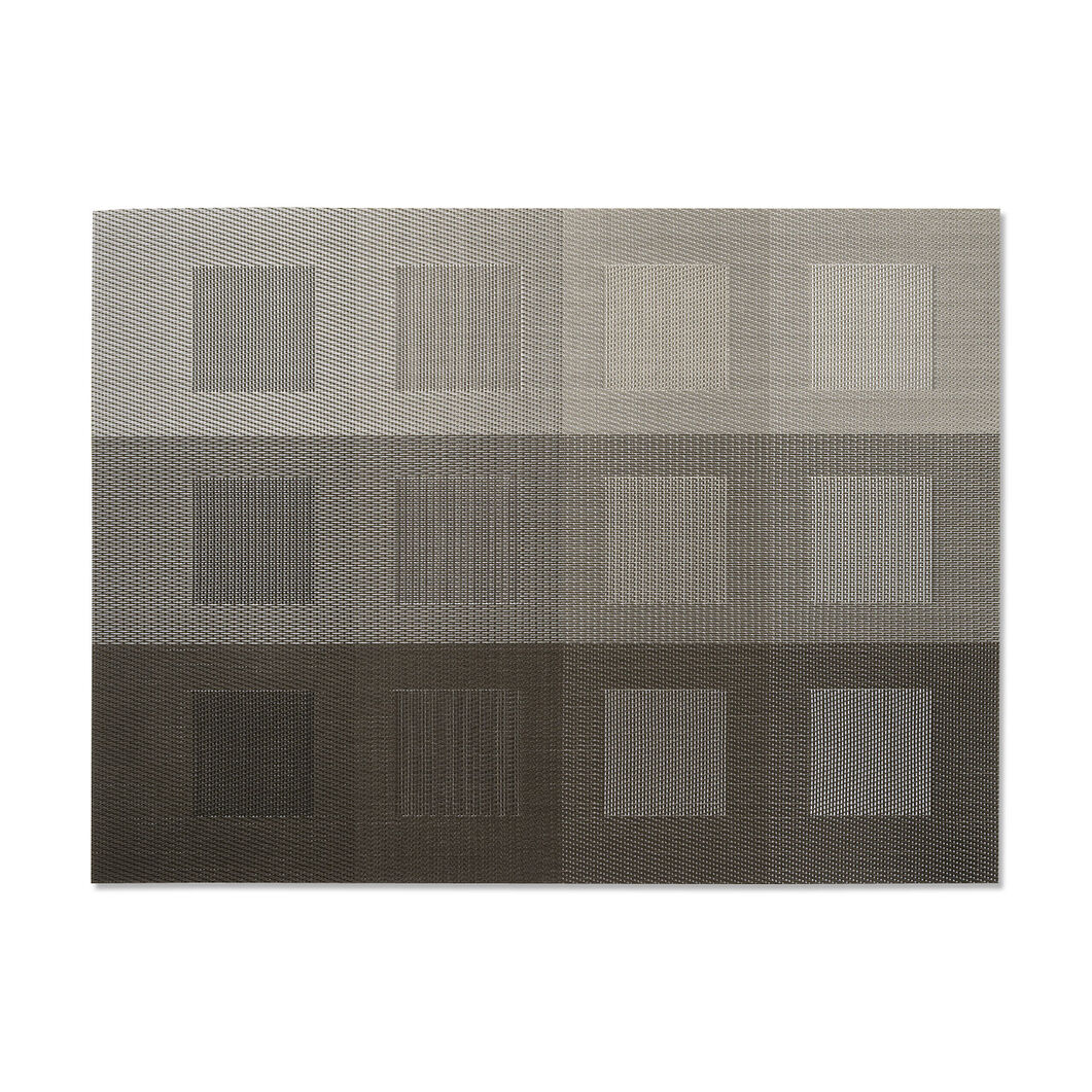 Engineered Squares Placemats  Steel in color Steel