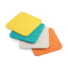 Cork Coasters in color
