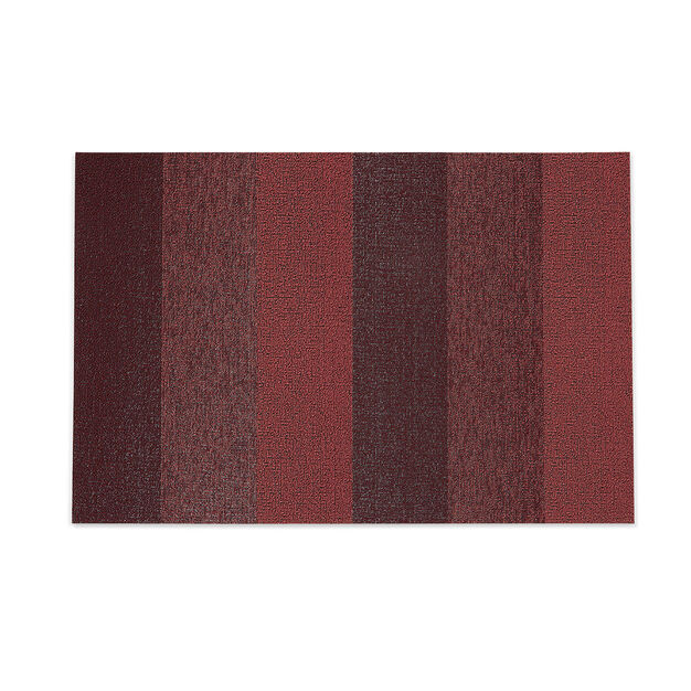 Chilewich Marbled Stripe Shag Floormat in color Red