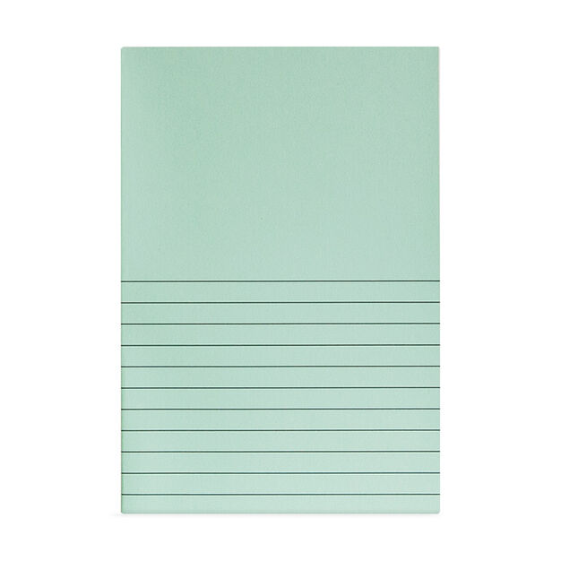 Mint Lines Notepad in color