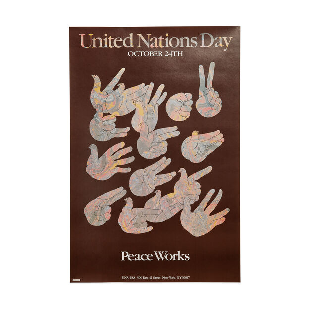 Milton Glaser: United Nations Day, Peace Works Poster in color