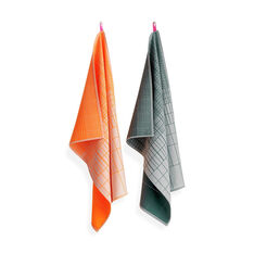 HAY Tea Towels Cold Forest in color Orange/ Gray
