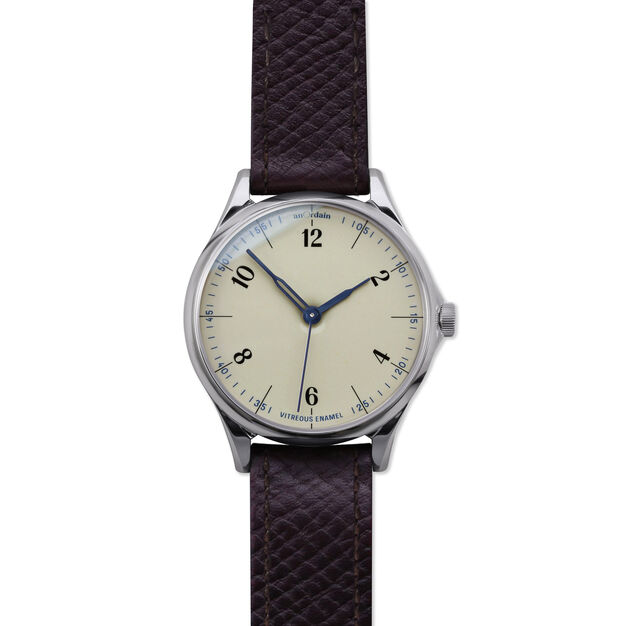 anOrdain Model 1 Watch - Iron Cream Dial in color Russian Hatch
