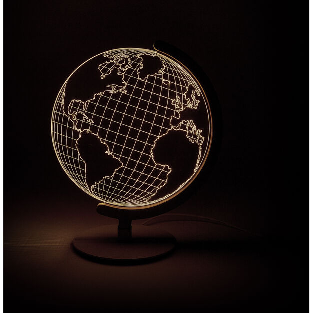 Globe Table Light in color