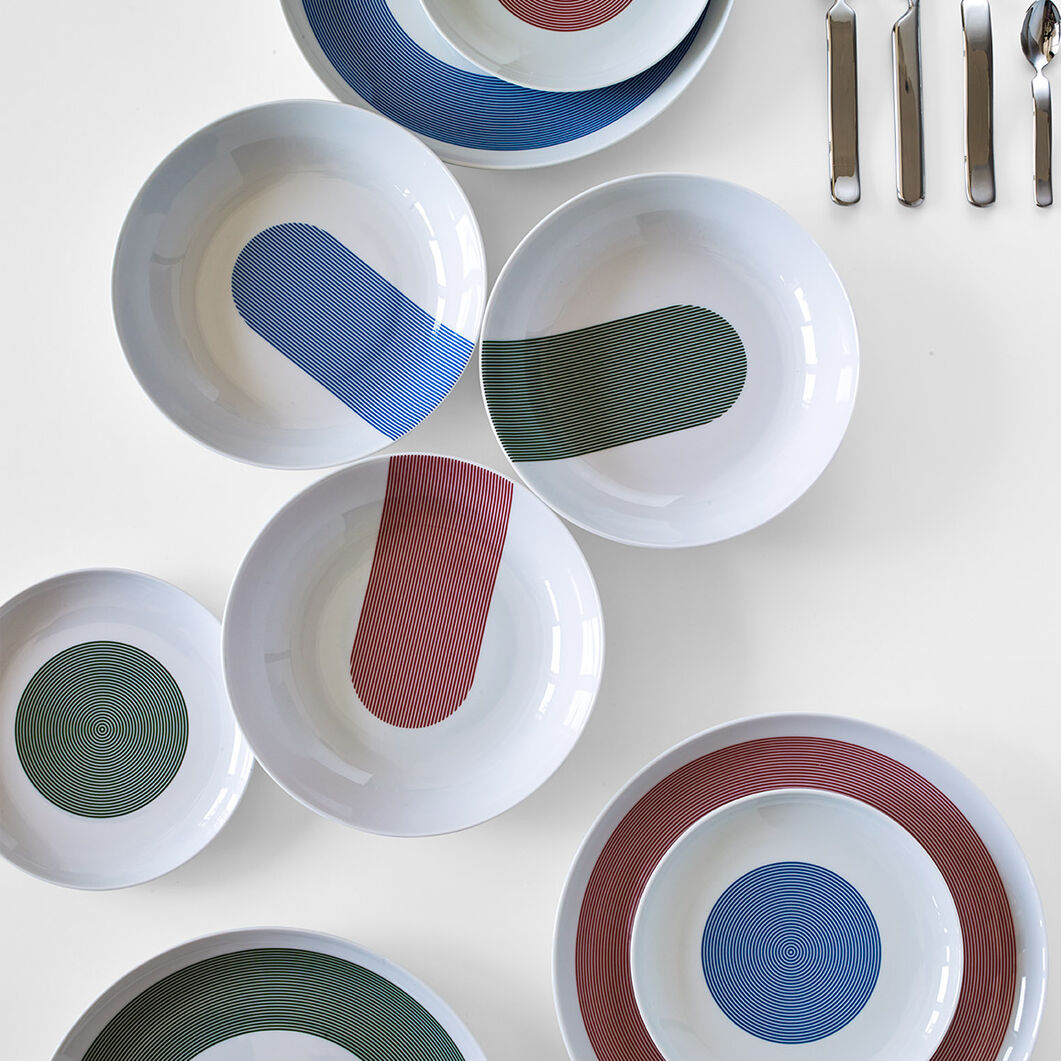Atelier Porcelain Dinnerware Set in color