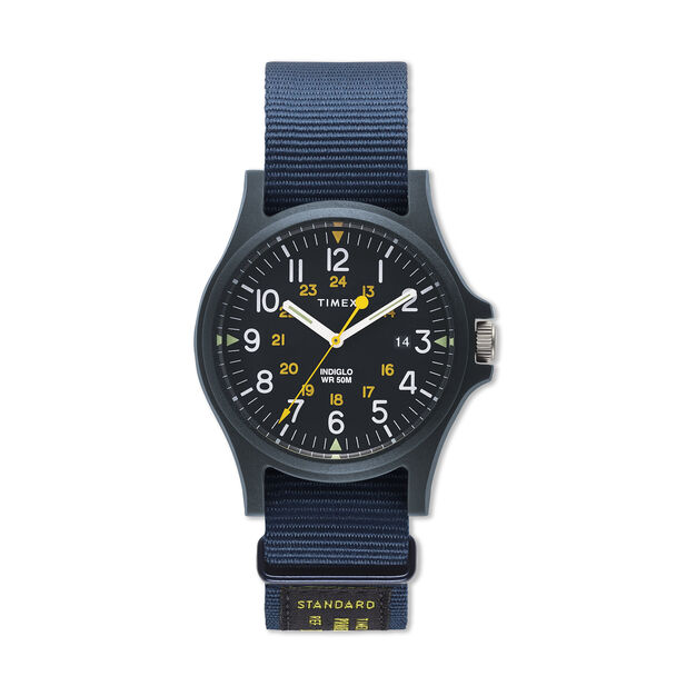 Timex Archives Watch Gift Set in color Blue/ Tan