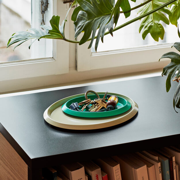 HAY Ellipse Trays in color Green