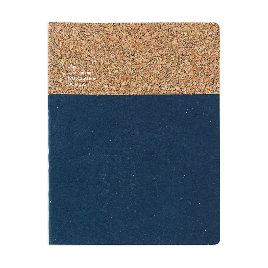 Large Cork Notebook in color Blue