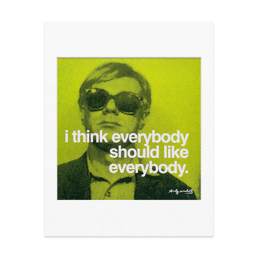 Everybody Should Warhol: Famous Quotes Matted Prints in color