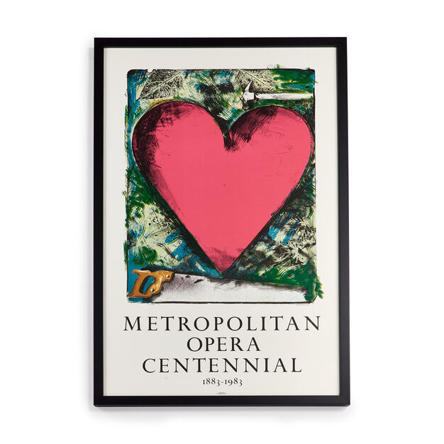 Jim Dine: Metropolitan Opera Framed Poster in color