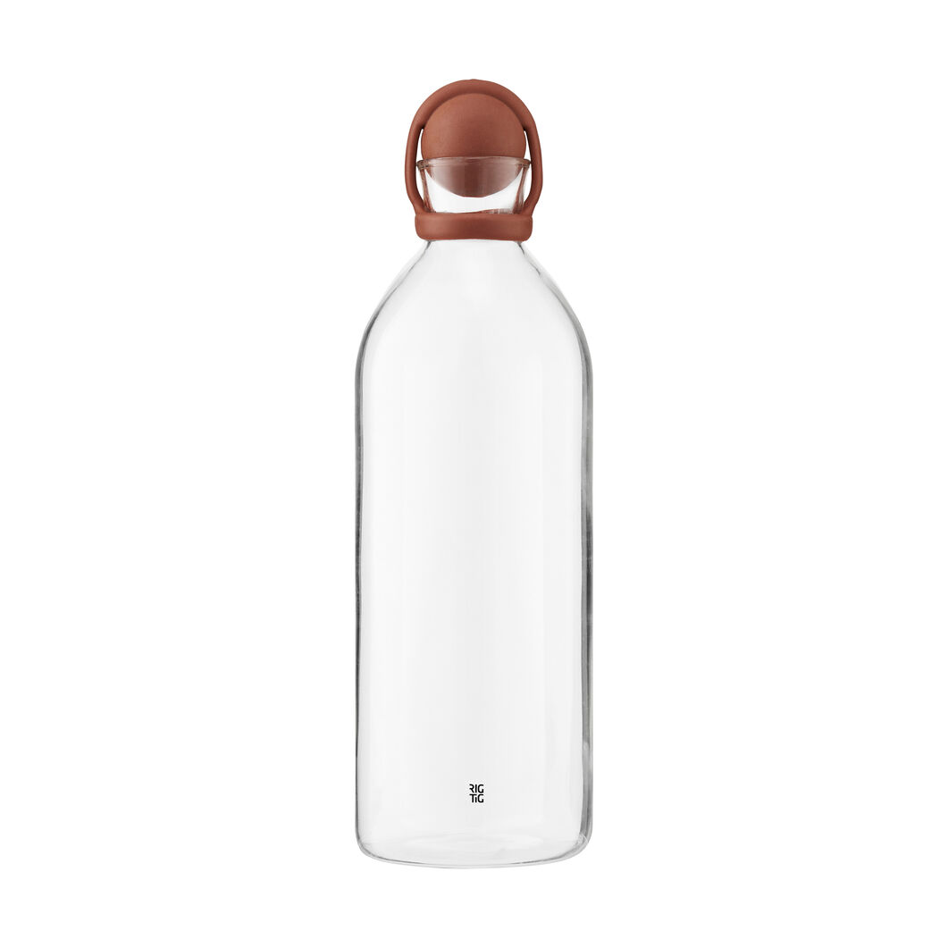 Cool It Glass Carafe in color Terracotta