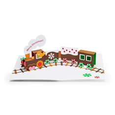Gingerbread Train Holiday Cards - Set of 8 in color