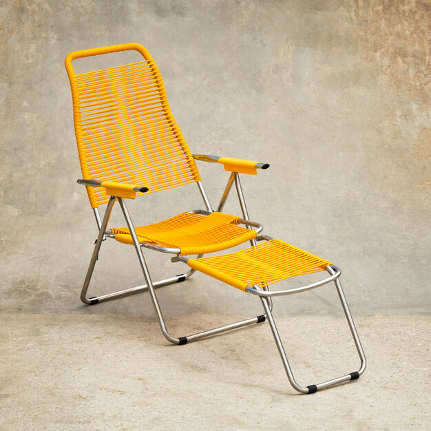 Spaghetti Outdoor Lounge Chair in color Yellow